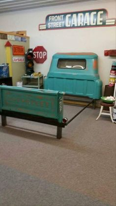 This Is An Chevrolet Apache 1958 Pickup Truck Turned Into A Queen Size Bed The