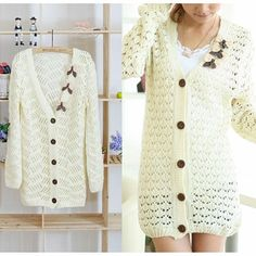 Embellished Crochet Cardigan from Picsity.com