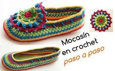 Aprende a tejer mocasines en crochet / Paso a paso