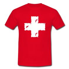 Ein Schweizer Kreuz im used Look.