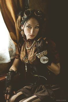 Clothing Steampunk fashion for women 2014 | Steampunk Portrait in Showcase of Fashion Steampunk Photography