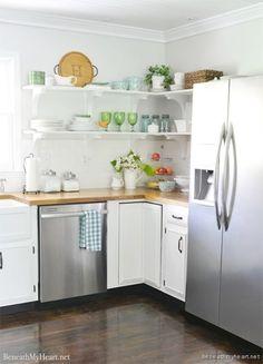5 Reasons I Love My Kitchen Open Shelves - Beneath My Heart