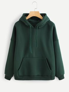 Shop Kangaroo Pocket Drawstring Hoodie at ROMWE, discover more fashion styles online. Cute Comfy Outfits, Cool Outfits, Fashion Outfits, Fast Fashion, Hoodie Outfit, Sweater Hoodie, Stylish Hoodies, Kawaii Clothes, Winter Looks