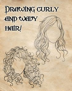 Drawing Hair Techniques How I draw curly and wavy hair! by *PiccolaRia on deviantART - Drawing Lessons, Drawing Techniques, Drawing Tips, Painting & Drawing, Sea Drawing, Sketching Tips, How To Draw Hair, Learn To Draw, Drawn Art
