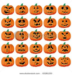 Jack O Lantern Faces Crafts Pumpkins Hy Fall
