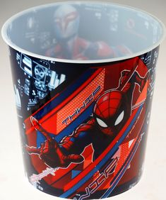 Plastic bin - hygienic & easy to wipe clean. 20 L - Good capacity to hold waste paper etc. Great for a super hero bedroom make over! Childrens Bedroom Accessories, Spiderman Kids, Waste Paper, Plastic Bins, Awesome Bedrooms, Cleaning Wipes, Bedroom Ideas, Marvel, Cool Stuff