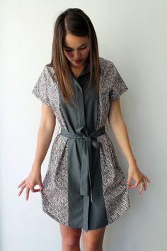Women shirtdress women button down blouse dress women by Galalabel