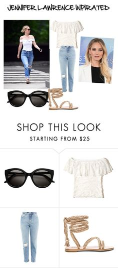 """""""JENNIFER LAWRENCE INSPIRATED"""" by saranavarrete ❤ liked on Polyvore featuring Hollister Co. and Topshop"""