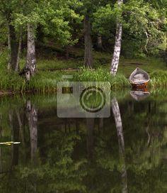 Fototapete Beautiful landscape, in Savonlinna, Finland.