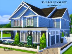 The Belle Valley is a family home built on a 30 x 20 lot in Newcrest on the Hillside Highlands Lot. Found in TSR Category 'Sims 4 Residential Lots' Sims 4 House Plans, Sims 4 House Building, Sims 4 Family House, The Sims 4 Lots, Sims 4 House Design, Sims 4 Build, Cute House, Sims 4 Custom Content, Dream Rooms