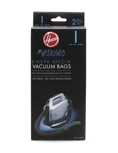Hoover Vacuum Bags >>> Always purchase genuine Hoover disposable vacuum bags to keep your vacuum operating at its peak performance. Vacuum cleaner bags should be changed regularly to keep your Hoover vacuum running smoothly. Full vacuum bags lead to reduced suction and compromise the amount of dirt that can be collected.  Special HEPA vacuum bags are specially designed to trap 99.97% dust particles and allergens. #Hoover #VacuumBags