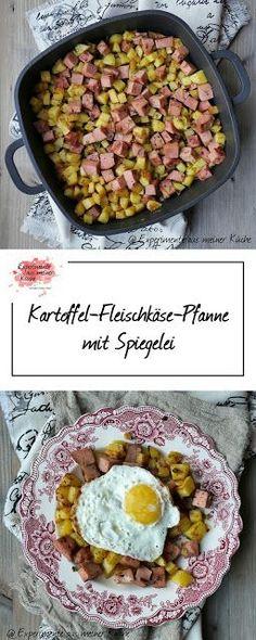 Kartoffel-Fleischkäse-Pfanne mit Spiegelei | Rezept | Kochen