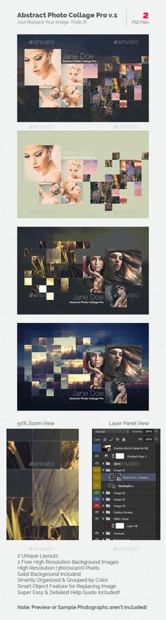 Abstract Photo Collage Pro Template #design Download: http://graphicriver.net/item/abstract-photo-collage-pro-v1/10978512?ref=ksioks