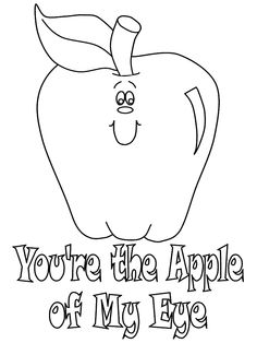 Apple Coloring Pages For Kids