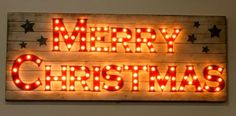 Custom Vintage Lighted Wood Marquee Sign Billboard. $149.00, via Etsy.