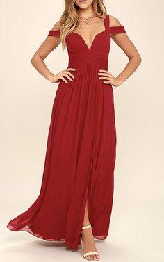Lulus X Bariano Ocean of Elegance Wine Red Maxi Dress via @bestchicfashion