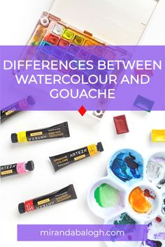 Have you ever wondered what are the differences between watercolour and gouache? In the watercolour vs gouache debate, which medium is easier for beginners? These are some of the questions that will be explored in this article which compares the pros and cons of each painting medium. So click here to learn about the similarities and differences between watercolour painting and gouache painting. Watercolor Paintings For Beginners, Acrylic Painting Tutorials, Watercolour Tutorials, Gouache Color, Watercolour Painting, Painting & Drawing, Step By Step Watercolor, Easy Watercolor, Art Blog