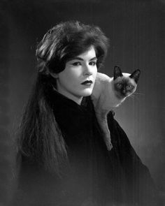 1962 - 1974 Richard Parks Portrait of Susan Mayo with a Siamese cat - Tallahassee, Florida.
