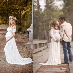 Friendly Luxury Ivory Pregnancy Maternity Wedding Dresses Flower Court Great Gatsby Gown Gorgeous Robe De Mariee Femme Enceinte Clothes Great Varieties Maternity Clothing