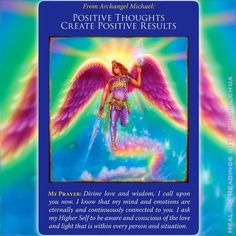 《Positive Thoughts Create Positive Results from Archangel Michael》If you expect something good to happen in your life, you may be interested in this blog post. Happy reading :)  #LawOfAttraction #LOA #PostiveThoughtsCreatePositiveResults #LikeAttractsLike #AngelCards #OracleCards