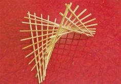 Make a hyperbolic paraboloid using bamboo skewers.