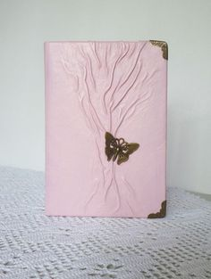 Leather Journal Pink Diary Gift for Teen Girls by AnnaKisArt