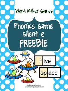 Phonics Game Silent e FREEBIE is a Word Maker Board Game from Games 4 Learning