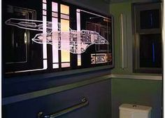 There s no stopping a true geek with passion and a dream. For a little Friday fun we scoured the web looking for the most impressive, geek-inspired homes around the world, settling on this list of the top 10 coolest geeky houses. Design Your Home, House Design, Set Design, Star Wars Furniture, Star Trek Continues, Star Trek Voyager, Apt Ideas, Out Of This World, Beautiful Bathrooms