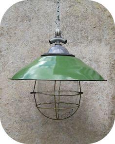 Vintage enamel kitchen light fixtures | pendant lighting