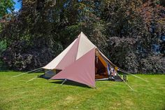 Cookies and Cream Bell Tent with Awning
