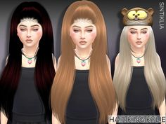 The Sims Resource: Sintiklia - Child hair King Kylie • Sims 4 Downloads