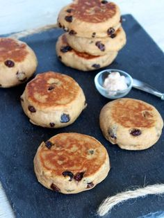 Cinnamon Raisin English Muffins from @The BakerMama | Maegan Brown