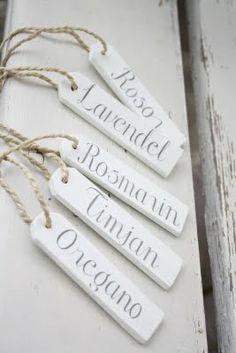 paint/label paint sticks to hang on sorter basket.<3 plant labels