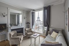 Rent Our 2 Bedroom Apartment Chateau Latour Located Near The Seine. The  Piece De Resistance Is The Unbelievable View Of The Eiffel Tower From The  Over Sized ...