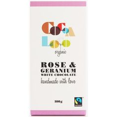 Rose & Geranium White Chocolate Bar