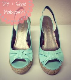 { DIY } Shoe Makeover- I do that often with old shoes that can't hold there shape anymore... Do mod podge with any paper (journal, magazine) to recreate the shape and than follow the steps... <3