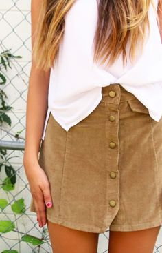 button down skirts