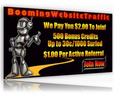 Booming Website Traffic + Cash Earnings for FREE = the choice of True Online Marketing Professionals Worldwide