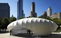 Image 39 of 39 from gallery of Burnham Pavilion / Zaha Hadid Architects. Photograph by Zaha Hadid Architects Design Museum, Amazing Architecture, Architecture Design, Parametric Architecture, Container Architecture, Contemporary Architecture, Contemporary Art, Instagram Png, Image Guide