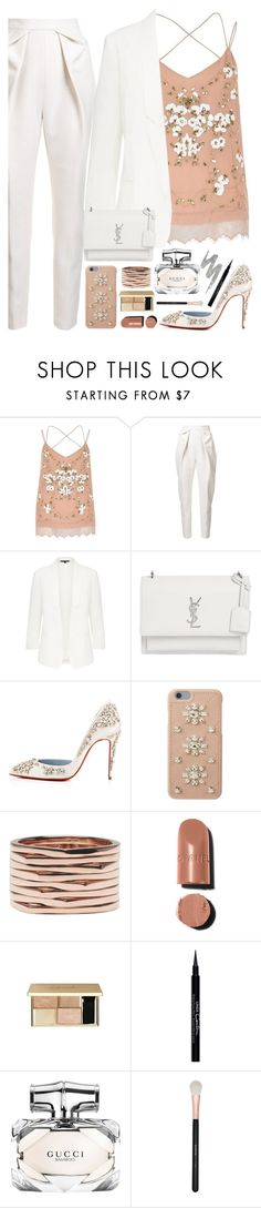 """G"" by seventeene ❤ liked on Polyvore featuring River Island, Delpozo, Yves Saint Laurent, Christian Louboutin, MICHAEL Michael Kors, Repossi, Givenchy, Gucci, Morphe and Urban Decay"