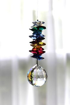 Beautiful Colorful Swarovski Crystal Sun Catcher  $28.00