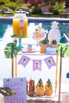Pineapple Themed Party for Adults | by Jessica Wilcox of Modern Moments Designs | www.modernmomentsdesigns.com