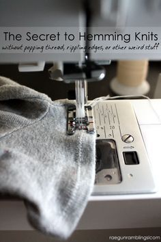 How to hem knits to get a professional looking finish | How to Sew Knits with a Serger | Sewing with Jersey | Best Tips for Sewing Knits