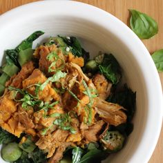 [Leaf Parade. Slow Cooker Chicken with Apple and Sweet Potato.]