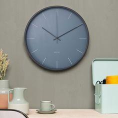 Karlsson Mist Wall Clock in Blue Jeans - blue modern timepiece