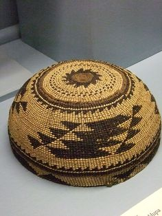 Native American Womens hats Yurok Karok or Hupa 19th century CE |  Photographed at the Maryhill Museum of Art in Goldendale, Washington.