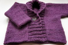 Ribbed Baby Cardigan - Debbie Bliss ~ GRANNY'S WORLD ~