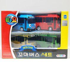 The Little Bus Tayo - Special Mini Bus Set (4pcs) Korea TV Animation Toy ICONIX