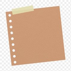 Brown hole punched notepaper journal sticker design element   free image by rawpixel.com / sasi Pretty Notes, Good Notes, Bubble Drawing, Instagram Frame Template, Photo Collage Template, Journal Stickers, Bullet Journal Ideas Pages, Aesthetic Stickers, Note Paper
