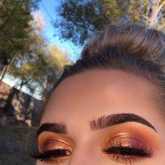 #atemberaubende #Augenschminke #Ecemella #eye #Kupfernes #makeup #Smokey
